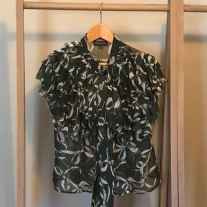 Sheer s/s blouse
